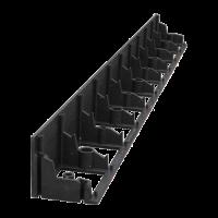 Бордюр пластиковый черный 10м, 38 мм +30 кольев