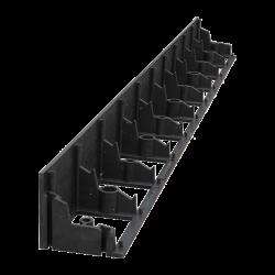 Бордюр пластиковый черный 1м, 45 мм