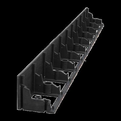 Бордюр пластиковый черный 1м 78мм