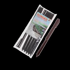 Колышек садовый пластиковый К-295/6 коричневый