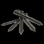 Бордюр пластиковый черный 10м, 55 мм +30 кольев