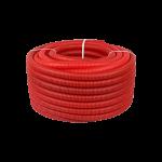 Труба дренажная двустенная красная ДГТ-ПНД Ø 110, 50м с протяжкой