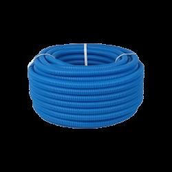 Труба дренажная двустенная синяя ДГТ-ПНД Ø 110, 50м с протяжкой